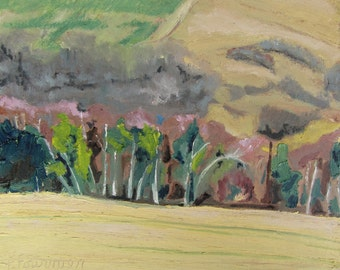 """Original Plein Air Landscape Oil Painting Impressionist Abstract Eastern Townships Quebec Canada By Fournier """" Spring In The Appalachians"""""""