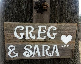 Barn wood Wedding Signs Wedding Gift Present love Heart Trueconnection Hand Painted Wood. Rustic Weddings. Vintage Weddings Road Signs Barn