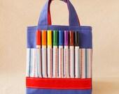 Coloring Tote Crayon Bag Crayon Tote READY to SHIP ARTOTE Mini in Play Ball