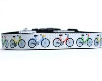 1 Inch Wide Dog Collar with Adjustable Buckle or Martingale in Bicycles