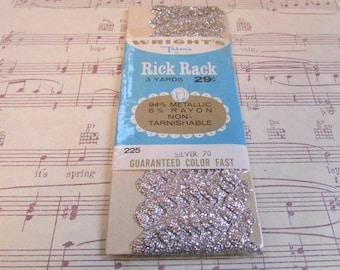Vintage Silver Rick Rack----3 Yards