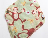 Cloth Mama Pad Pantyliner 8 inch - Green Monkeys FREE Shipping