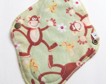 Cloth Mama Pad Pantyliner 8 inch - Green Monkeys FREE Shipping