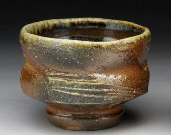 WoodFired Multi-Faceted  Guinomi (Sake Cup)