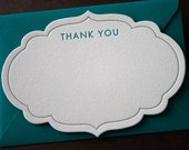 Thank You Notes, Letterpress, Chic Frame