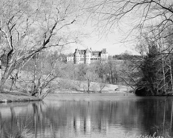 Biltmore Estate Photography, Asheville NC Photos, Biltmore Mansion Dreamy Winter Photos, Black & White Home Wall Decor 5x5, 8x8 10x10  Print