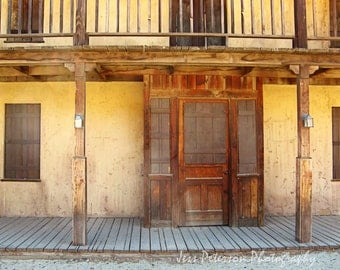 Old West Photography Paramount Ranch CA Photos Rustic Art Dark Brown Yellow Rust Decor Earthy Western Cowboy Wall Art Old West Art Print