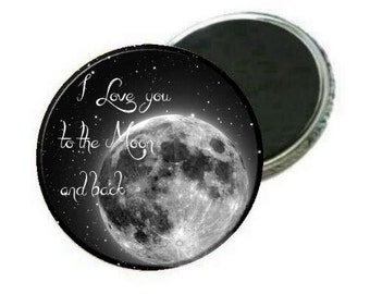 "2.25"" Magnet - I Love you to the moon and back"