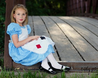 Cute Alice in Wonderland Girls Costume Dress