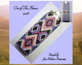 Bead PATTERN Savannah Lighter Cover Peyote or Brick stitch