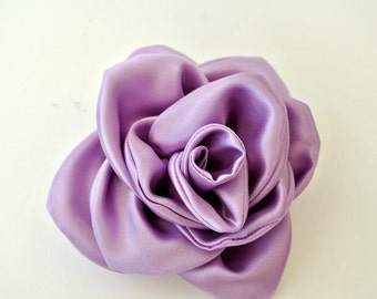 Floral Brooch , Lavender Brooch , Fabric Flower , Hair Flower , Large Corsage Brooch Pin , Finished to Order , French Barrette , Brooch Pin