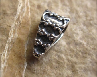 Sterling Silver Bail - Royal Drop - Solid sterling - small 11mm X 5mm