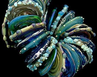 DSG Beads - Debbie Sanders Glass Artisan Handmade Lampwork  Glass Beads Organic Beads- Made To Order Discs (Mermaids)