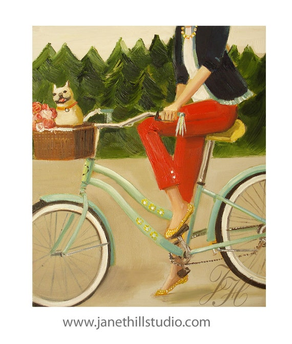 Francine And Her Frenchie- Art Print