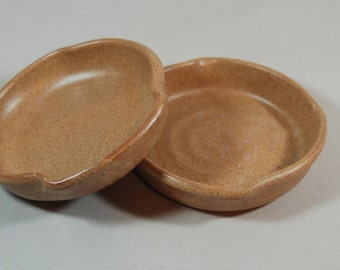 NUTMEG brown ceramic pottery dish, plate/ serving dish/ nut/ candy handmade, great gift   ready to ship  B51