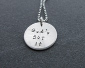 God's Got it necklace Christian Jewelry Inspirational Jewelry