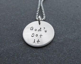 God's Got it necklace Christian Jewelry Inspirational Jewelry
