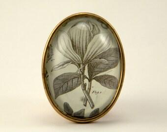 Rustic Petals Victorian Engraving Brooch