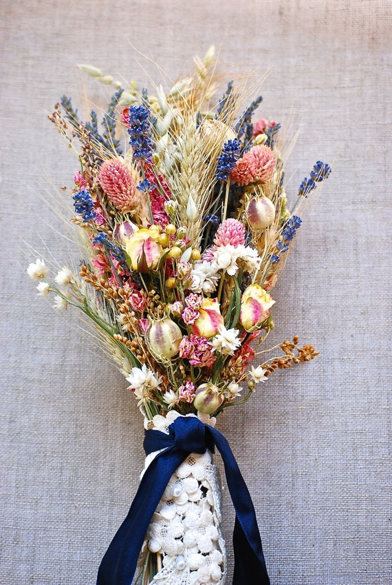 dried lavender bouquet wedding items similar to fall wedding brides bouquet of lavender 3754