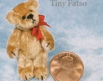 Tiny Fatso Bear - Miniature Teddy Bear Kit - Pattern - by Emily Farmer