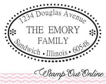 Return Address Rubber stamp self inking --2376