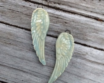Angel Wing Ceramic Earring Set