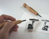 SALE! Excellent U or V Tool for Rubber Stamp Carving
