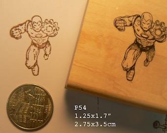P54 Iron man  line art rubber stamp