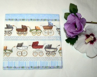 2 Napkins  from Germany strollers