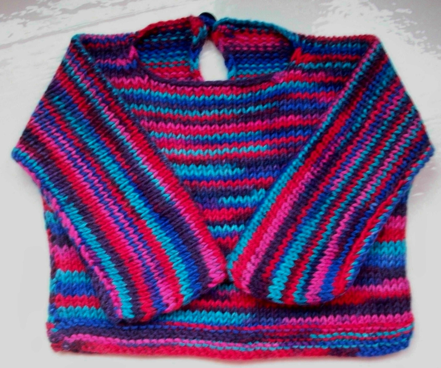 Simple Knitting Pattern Toddler Jumper : Baby sweater easy care knit bright jumper pullover boy girl