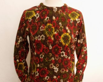 60% OFF Vintage Wool flowers ladies sweater