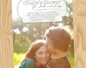 Stitched Lines Frame - Custom Printable Couples, Bridal Shower Invitations, Photo Cards