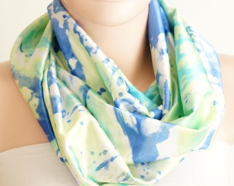 Infinity Scarf,  Loop Scarf...Color Dancing.....Chiffon, satin, cotton... Scarf.