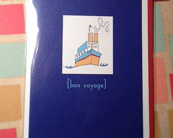 Bon Voyage - Goodbye card