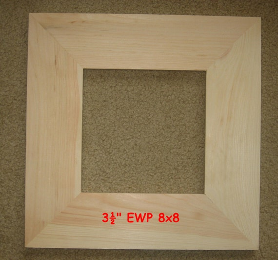 Items Similar To Unfinished Wood Picture Frame In Wide 3 5