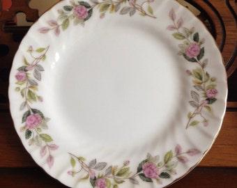 Set of 3 Mismatched Floral China Plates