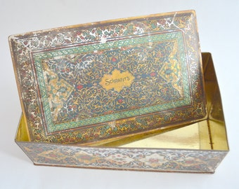 Vintage Schrafft's Candy Box in Metal