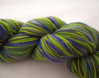 Hand Dyed Merino Superwash Sock Yarn, Fingering Weight, 485 Yards, 4 ounces/100 Grams
