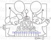 Birthday Bash - Instant Download Digital Stamp