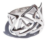 Unique Silver Ring Mens and Womens Sterling Jewelry
