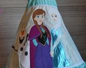 Custom boutique FROZEN anna Elsa Olaf dress set twirl applique tee