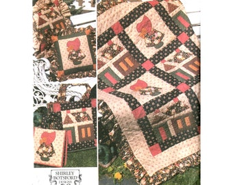 Quilt Block Club Sewing Pattern - Simplicity 9371- Schoolhouse & Sunbonnet Sue Lesson #5 Shirley Botsford Designs Uncut