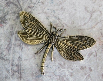 Large Brass Dragonfly Finding 1358B