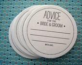 Letterpress Coaster Set - advice for the bride and groom (set of 30)