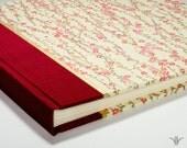 Photo Album Crimson Cherry Branch-Wedding Photo Album, Guest Book ,Scrapbook, Art Journal, Photo Booth Album