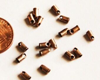 100 pcs of antique Copper end cap 5.3x2.7mm
