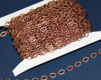 32 ft spool of Antiqued Copper Figure 8 Connector Chain 5x3.5mm links