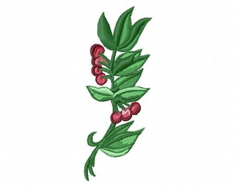Branch with Berries Machine Embroidery Designs..2799