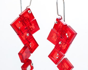 red squares Limited Edition earrings