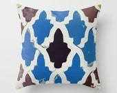Decorative pillow cover - Morocco Cushion cover - Modern pillow cover - African pillow - blue and black Pillow - Contemporary bedding